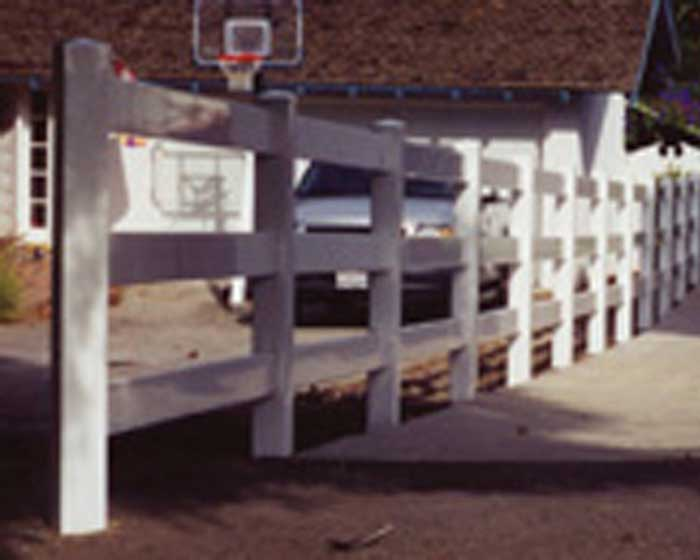 4 Rail Ranch Railing