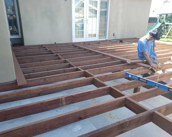 Deck substructure construction