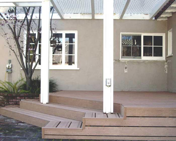 Deck with Wrap Around Steps