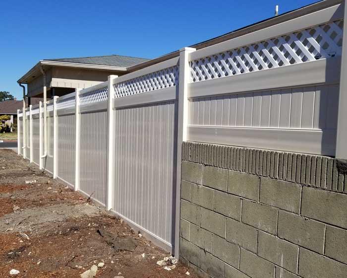 Privacy Vinyl Fences With Accent Vinyl Fencing Company