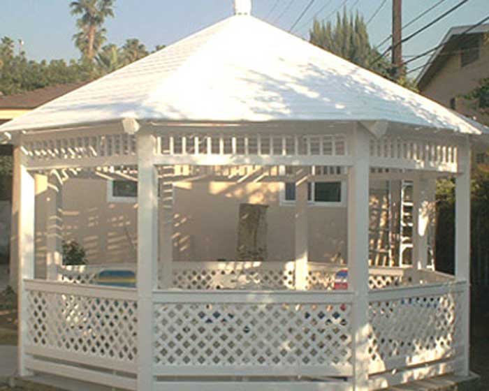 Gazebo with Solid Top
