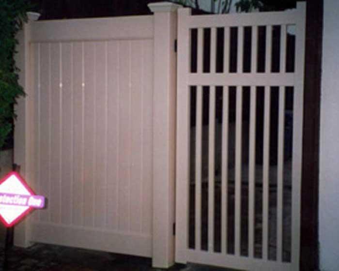Open Picket Gate