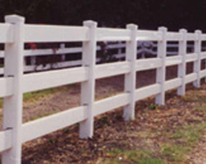 Vinyl 3 Rail Ranch Railing