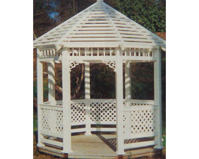 Vinyl Gazebo with Picket Top
