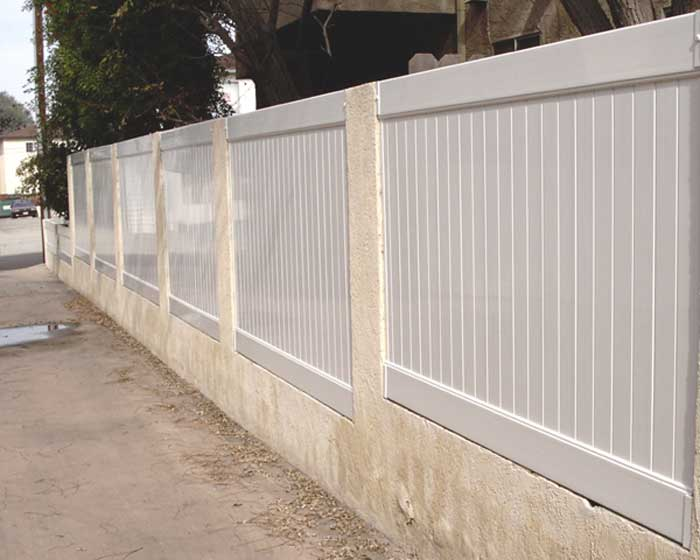 Vinyl Privacy Fence Within Pillars